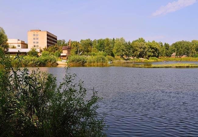 Санаторий МВД Миргород Фото - Вид с Реки.