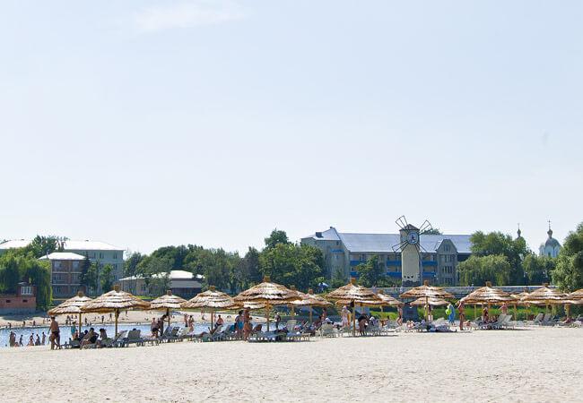 Санаторій Полтава Миргород Фото - Пляж.