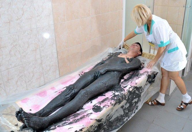 Лечение грязями в Миргороде.