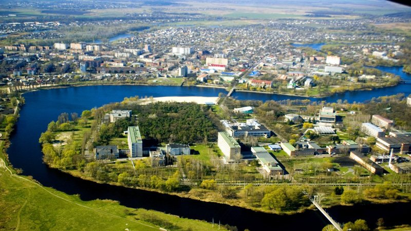 Вид с воздуха Миргород