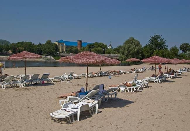 Березовый Гай Миргород Фото - Пляж.
