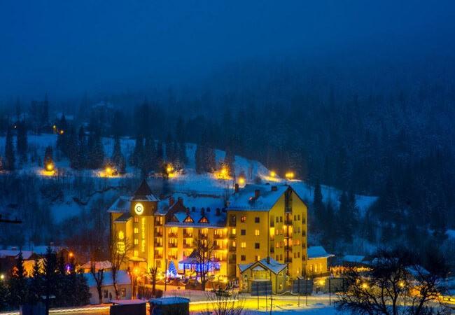 киевская русь сходница фото - отель зимой.