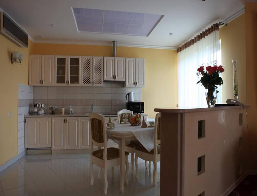 Отель Респект Сходница Фото - Номер апартаменты - на кухне.