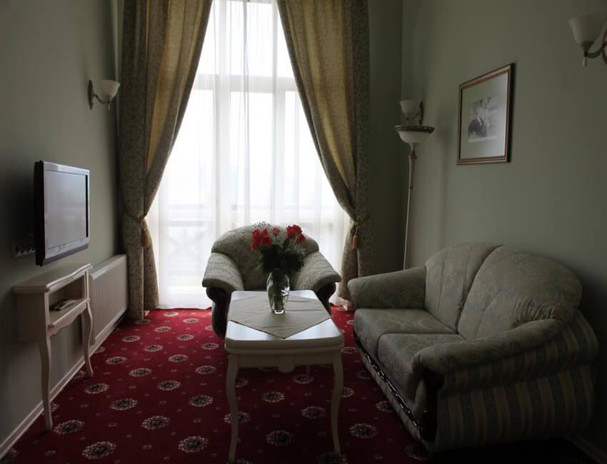 Отель Респект Сходница Фото - Номер люкс - Диван.