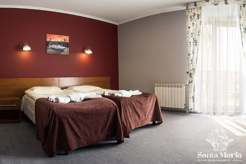 Санта Мария Сходница Фото - Номер Полулюкс двухместный - Кроватки.