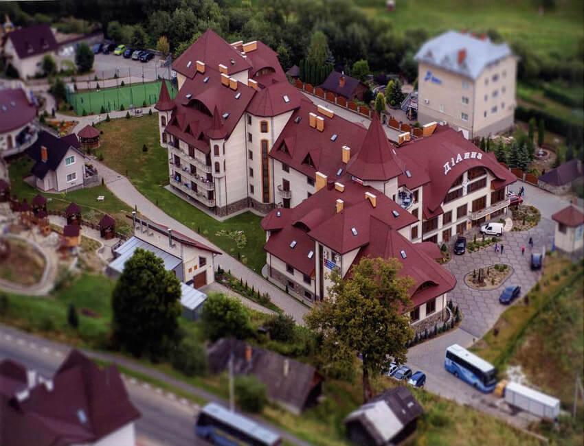 Отель Дианна Сходница Фото - Вид с воздуха.