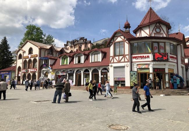 Трускавец Фото - Главная площадь.