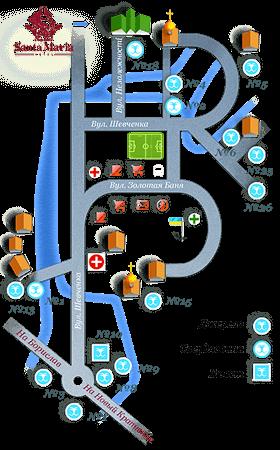 Санта Мария Сходница - Карта,