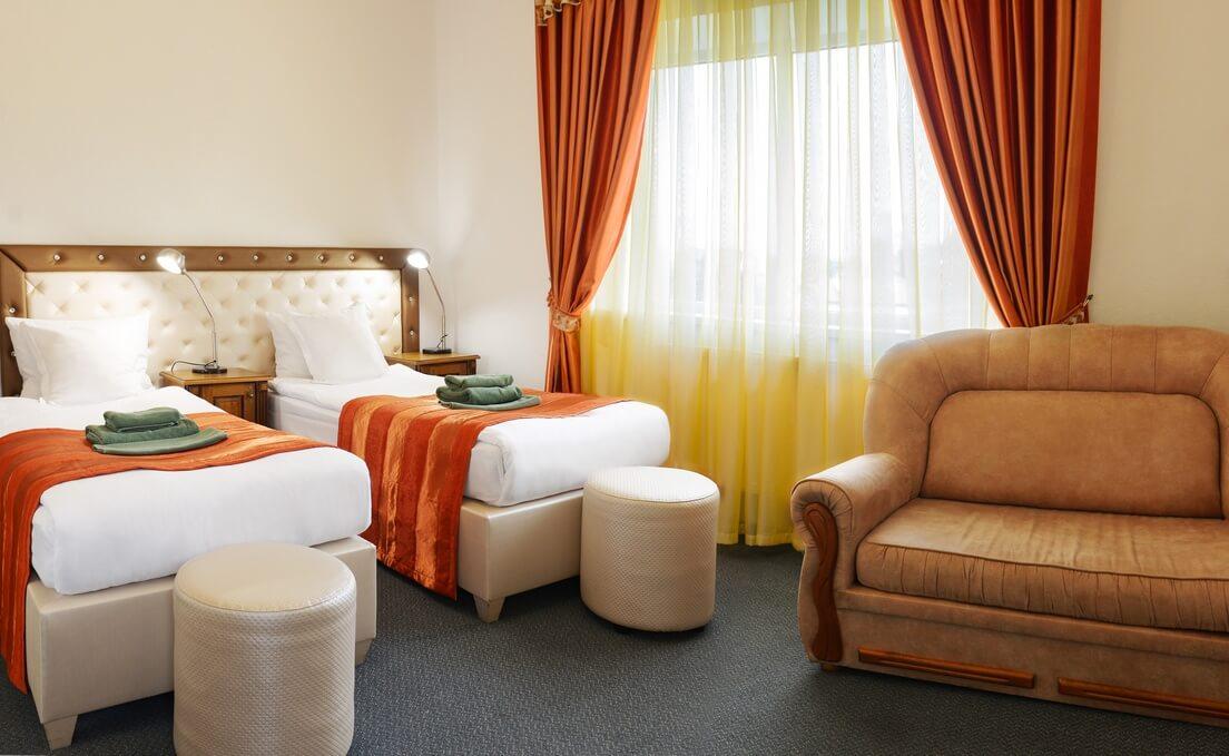 Отель Дианна Сходница Фото - Номер стандарт однокомнатный - Спальня.