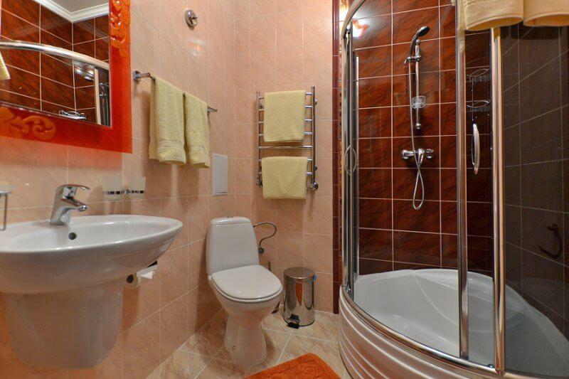 Отель Дианна Сходница Фото - Номер стандарт superiour - Туалет.