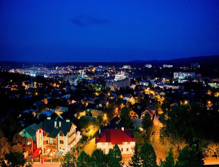 Лесная Песня Трускавец Фото - Вид на город.