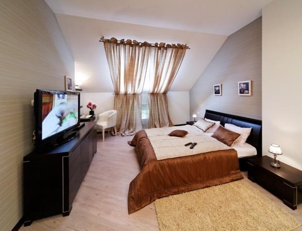 Шале Грааль Трускавец Номер - Queen Suite Apart - Спальня.