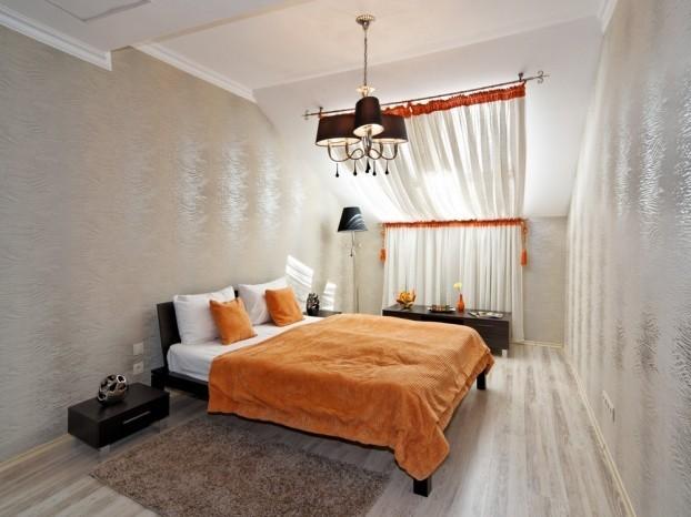 Шале Грааль Трускавец Номер - Queen Suite Apart - в спальне.