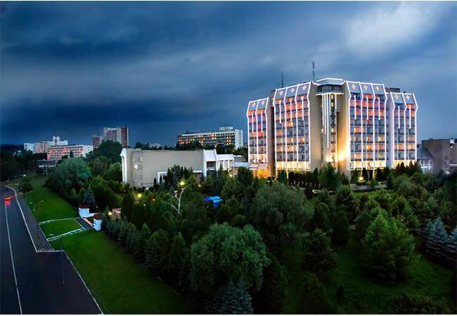 Жемчужина Прикарпатья Трускавец Фото - вид с воздуха.