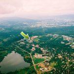 Санаторий Молдова Трускавец Фото - вид с воздуха.