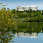 Санаторий Шахтер Трускавец Фото - вид с озера.