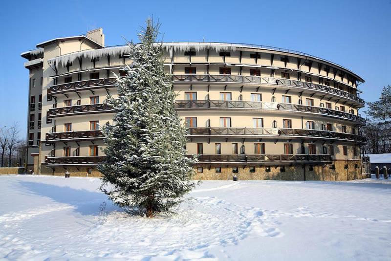 Шале Грааль Трускавец Фото - Зимой.