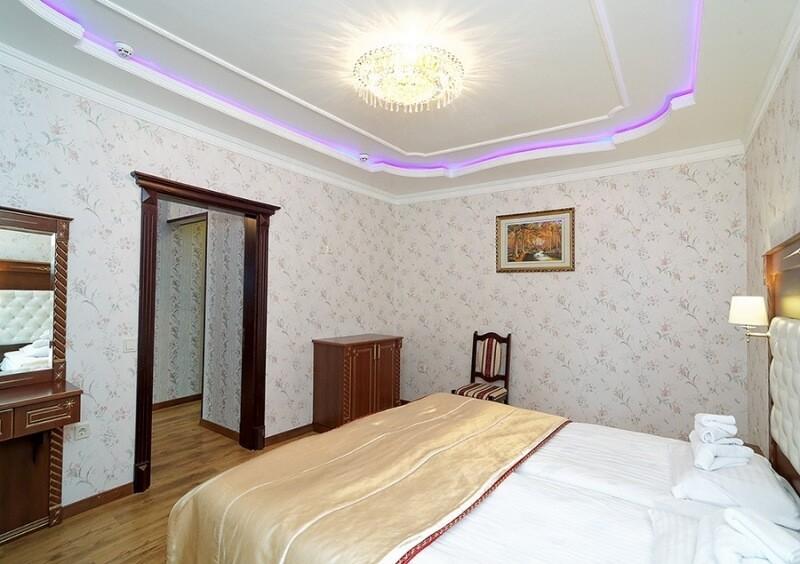 Санаторий Виктор в Трускавце Номер - люкс трехкомнатный - Кровать.