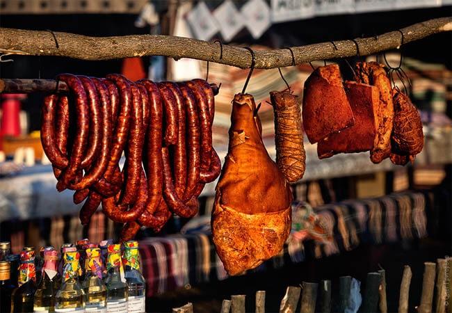 Фестиваль колбас в Закарпатье