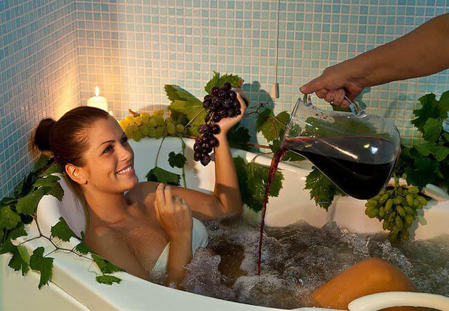 Санаторий Боржава Фото - Винная ванна.