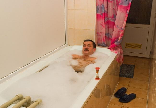 Санаторий Солнечное Закарпатье - лечебная ванна.