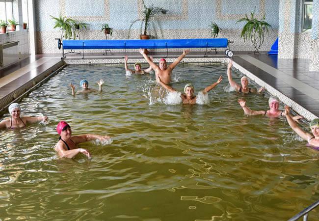 Санаторий Теплица Закарпатье Фото - целебный бассейн.