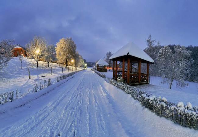 Санаторий Термал Стар Закарпатье Фото - Дорога зимой.