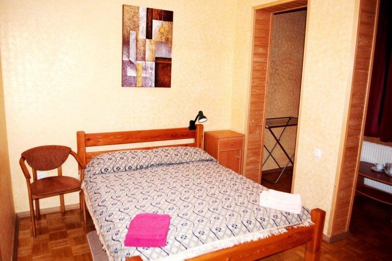 Отель Мальвы Номер 2-комнатный семейный - Кровать.