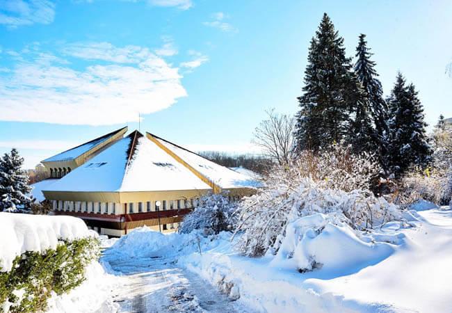 Санаторий Хрустальный Дворец Фото - дворец зимой.