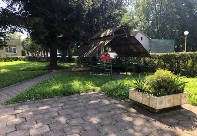 Санаторий Днестр Моршин Фото - Беседка.