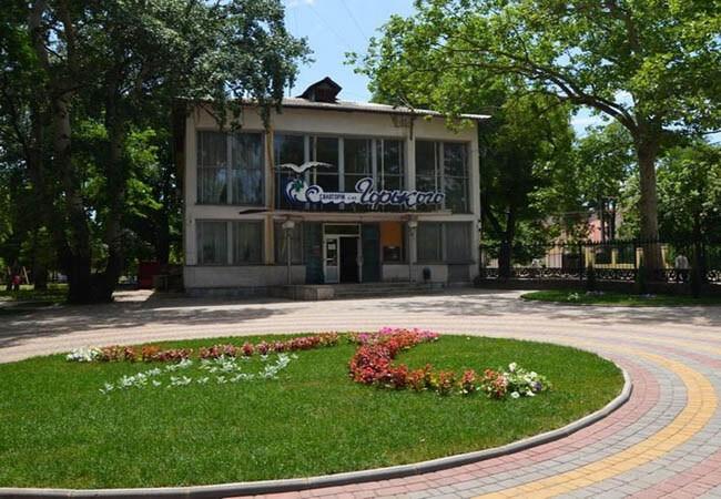 Санаторий Горького Одесса Фото - Клумба.
