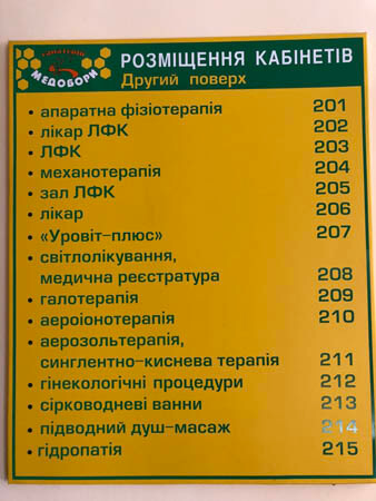 Санаторий Медоборы Фото - Кабинеты.
