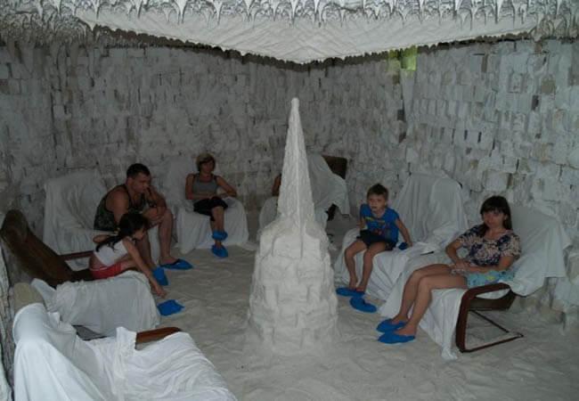 Санаторий Одесса Фото - Соляная комната.