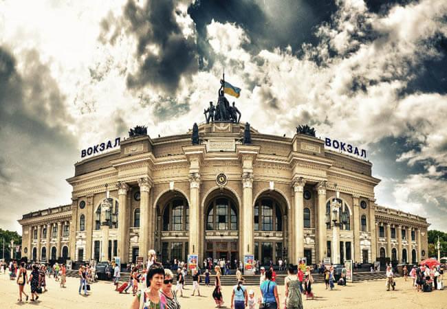 Вокзал в Одессе.