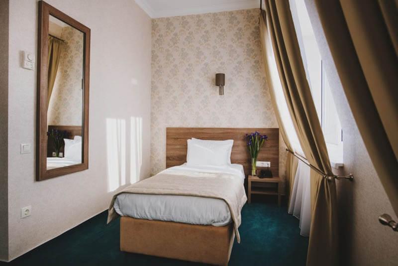 Отель Алькор Номер Стандарт 1.месн - Кровать.