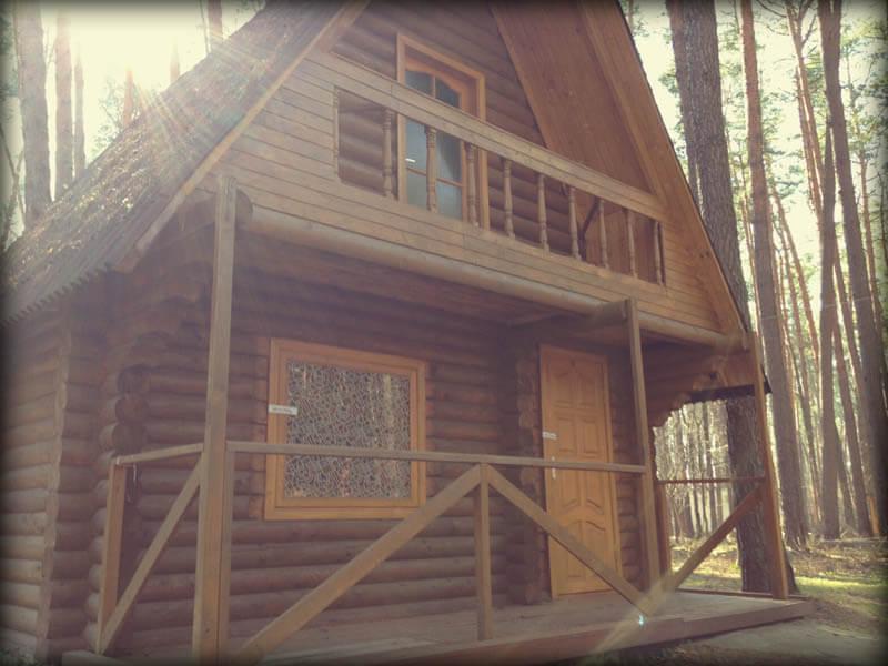 Коттедж двухместный (двухэтажный домик) - вид на домик.