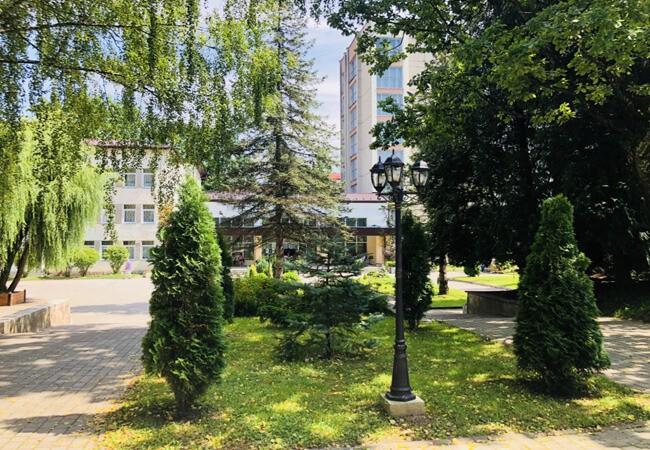 Санаторий Моршинский Фото - деревья.
