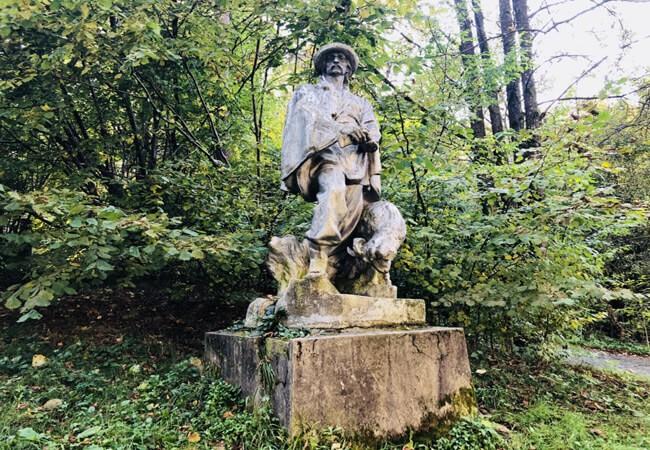 Санаторий Шаян - статуя.
