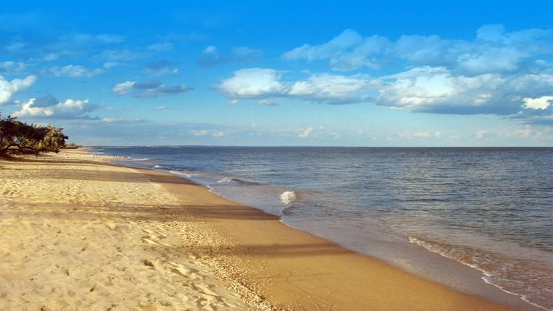 Пляж в Бердянске.