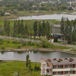 Санаторий Лазурный Бердянск - Вид с воздуха.