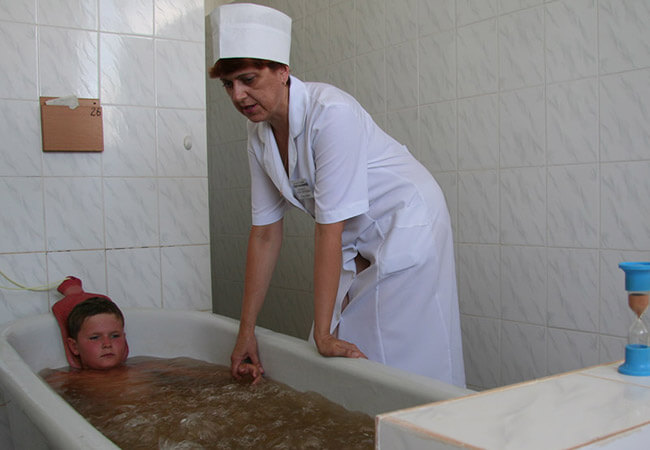 Санаторий Лазурный Бердянск - Лечебная ванна.
