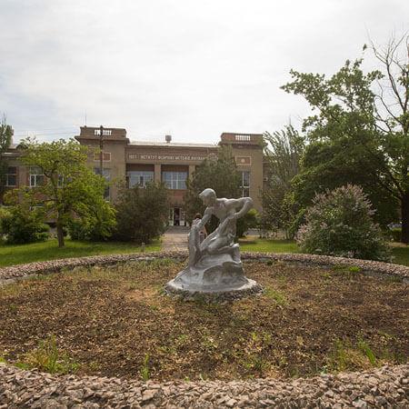 Санаторий Бердянск - Статуя.