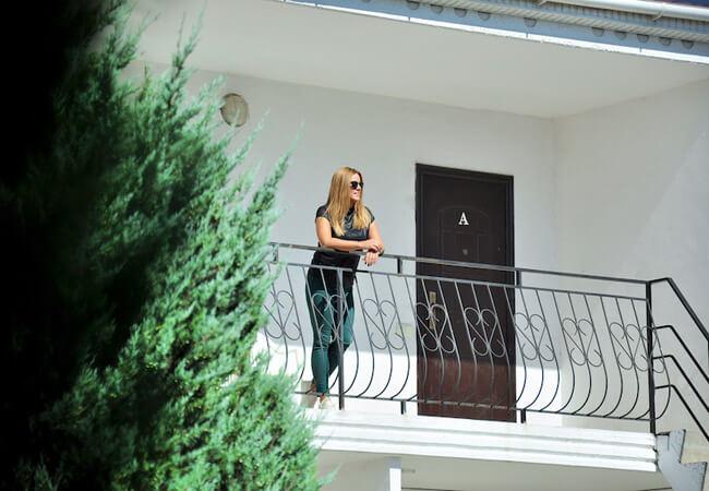 Санаторий Нефтехимик Бердянск Фото - На балконе.