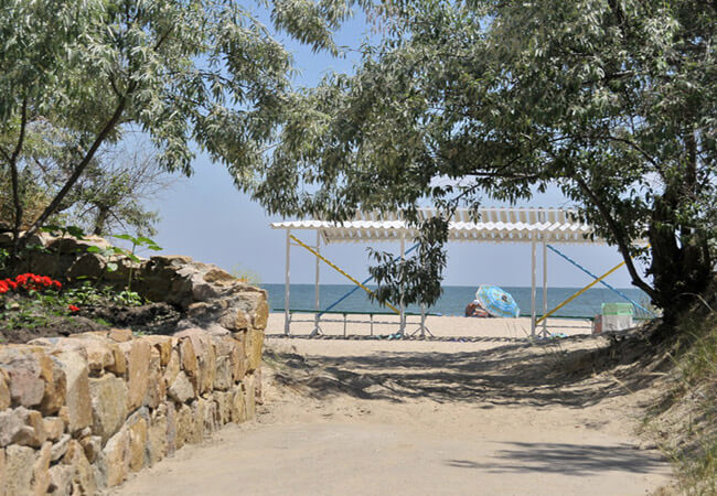 Санаторий Нефтехимик Бердянск Фото - Вход на пляж.