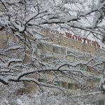 Санаторий Жовтень Фото - Зимой.