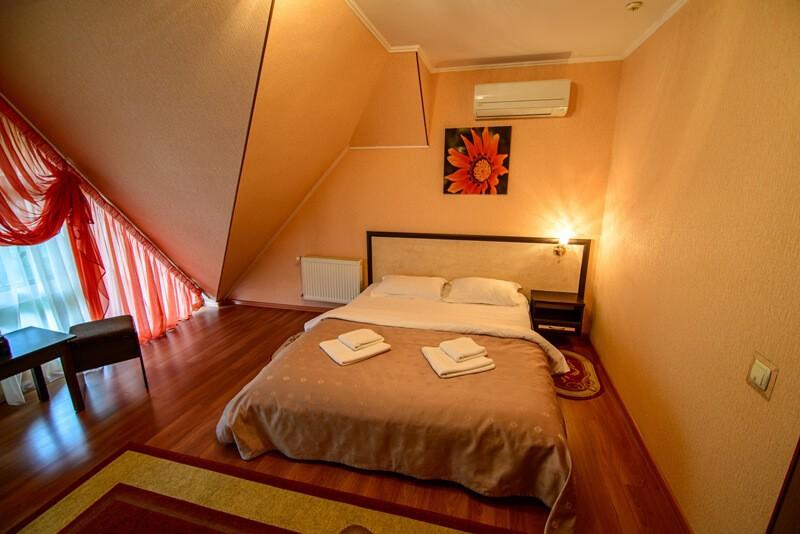 Отель Фантазия Номер Стандарт - Спальня