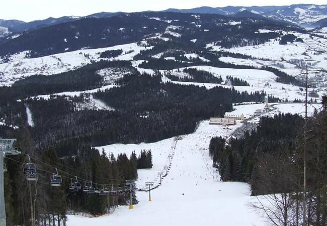 Отель Фантазия в Поляне - Лыжный спуск
