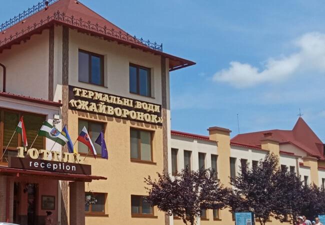 Отель Жаворонок Берегово - Вход