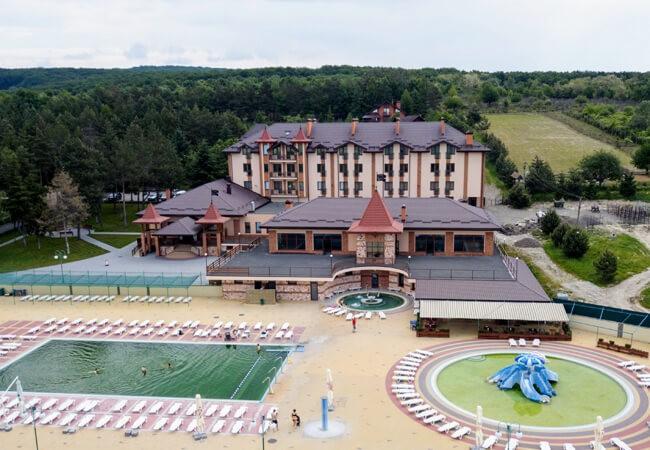 Отель Золотая Гора - Вид с верху